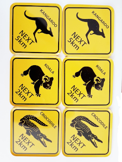 Coasters - Australian Roadsigns (set of 6)