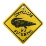 Road Sign - Crocodiles No Swimming (Small)