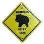 Road Sign - Wombats Next 5km (Small)