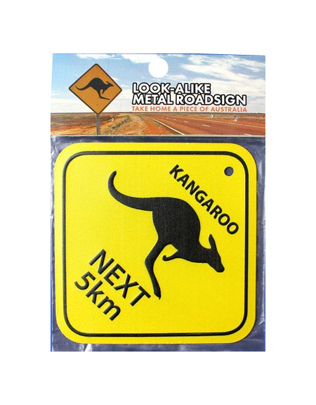 Metal Road Sign - Kangaroo next 5km (Small)