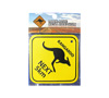 Metal Road Sign - Kangaroos Next 5km (Large)