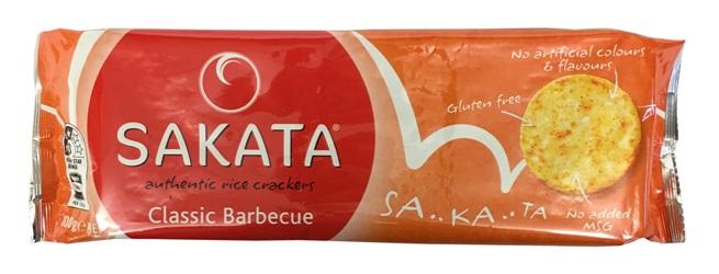 Sakata Gluten Free Rice Crackers - Classic BBQ (100g)