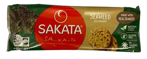 Sakata Gluten Free Rice Crackers - Seaweed (90g)