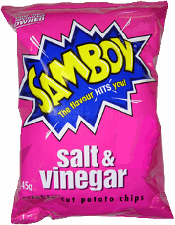 Samboy Salt & Vinegar Chips (45g)
