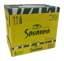 Savanna Cider  (6 x 500ml Bottles)