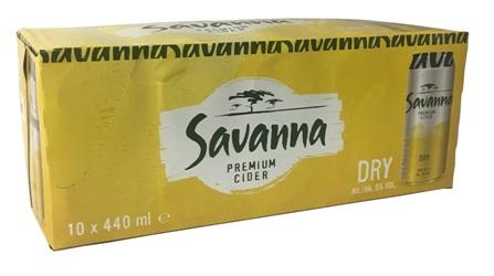 Savanna Cider Dry (10 x 440ml Cans)