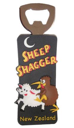 magnetic bottle opener sheep shagger souvenirs from new zealand. Black Bedroom Furniture Sets. Home Design Ideas