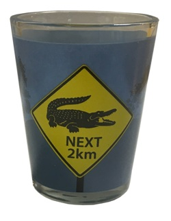 Shot Glass - Crocodile Roadsigns