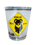 Shot Glass - Kangaroo & Koala Roadsigns