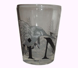 Shot Glass - Etched Kiwi