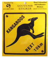 Sticker - Kangaroos Next 10km