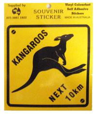 Sticker - Kangaroos Next 10km