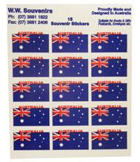 Sticker - 15 x Australia Flag