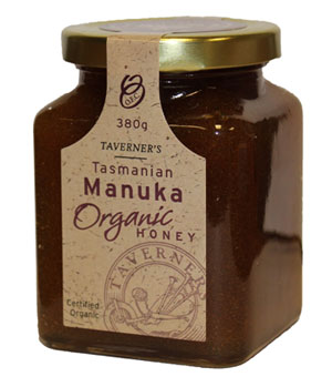 Taverners Tasmanian Organic Manuka Honey
