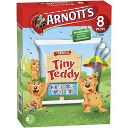 Arnotts Tiny Teddy Hundreds & Thousands Multipack - 8 Packs (184g)