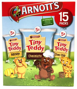 Arnotts Tiny Teddy Variety Multipack -  15 Packs (375g)