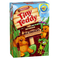 Arnotts Tiny Teddy - Half Coated in Chocolate (200g)