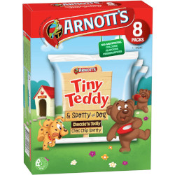 Arnotts Tiny Teddy - Choc Teddy & Spotty Dog 8pk (184g)