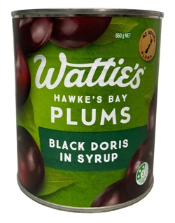 Watties Black Doris Plums (850g)