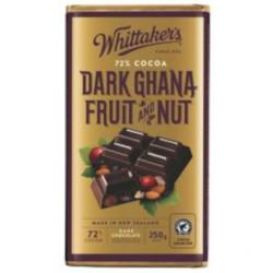Whittakers Dark Ghana Fruit & Nut (250g)