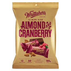 Whittakers Mini Slabs - Almond & Cranberry (180g)