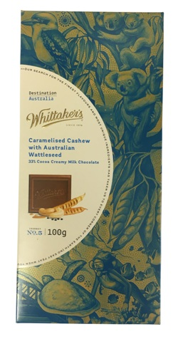 Whittakers Caramelised Cashew with Australian Wattleseed (100g)