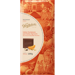 Whittakers Destination India - Indian Cardamom & Italian Apricot (100g)