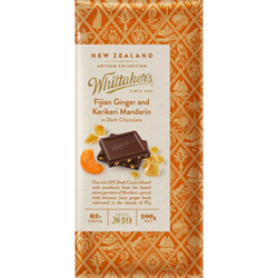 Whittakers Artisan Collection - Fijian Ginger and Mandarine (100g)