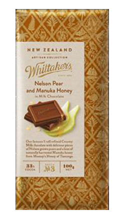 Whittakers Artisan Collection - Nelson Pear & Manuka Honey in Milk Chocolate (100g)