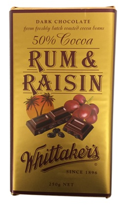 Whittakers Block Rum & Raisin (250g)
