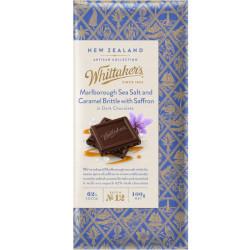 Whittakers Artisan Collection - Marlborough Sea Salt & Caramel with Saffron in Dark Chocolate (100g)