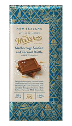 Whittakers Artisan Collection Marlborough Sea Salt & Caramel in Milk Chocolate (100g)
