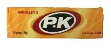 Wrigleys PK Chewing Gum Orange - Peppermint Flavour