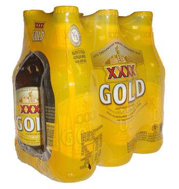 XXXX Gold Lager (6 x 375ml bottles)